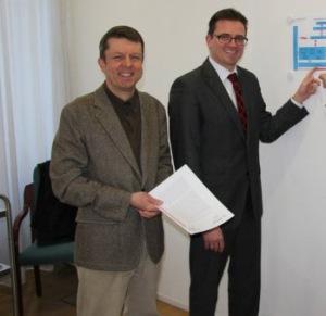 Dr. Joachim Bläse, Hauptamtsleiter Helmut Ott