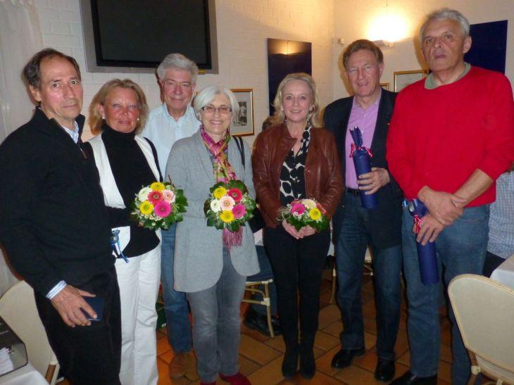 Susanne und Norbert Barthle ; Gerda und Klaus Mayerhöffer; Christina und Dr. Martin Redenbacher ; Irene Lillich Hauptversammlung beim Tennisverein Gmünd
