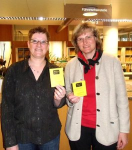 Von Links Anja Prull-Baltes Landratsamt